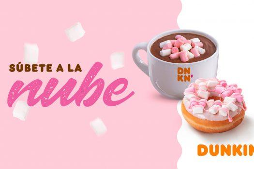 Bebida de chocolate con nubes en Dunkin Coffee