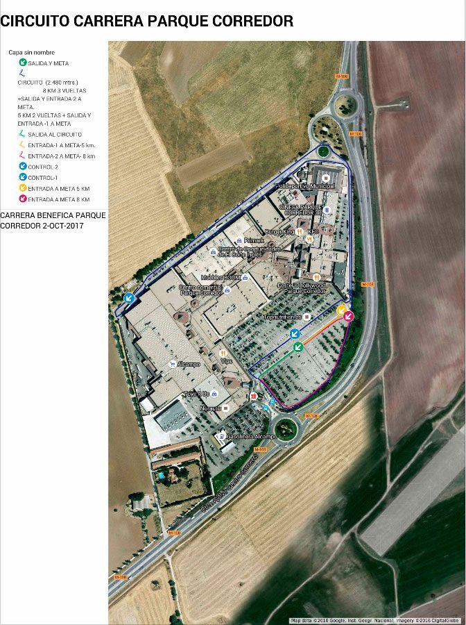 Circuito carrera Parque Corredor