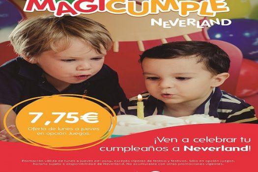 De lunes a viernes los cumpleaños en Neverland tienen oferta