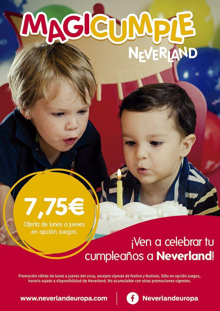 Oferta para celebra cumpleaños a diario en Parque Corredor