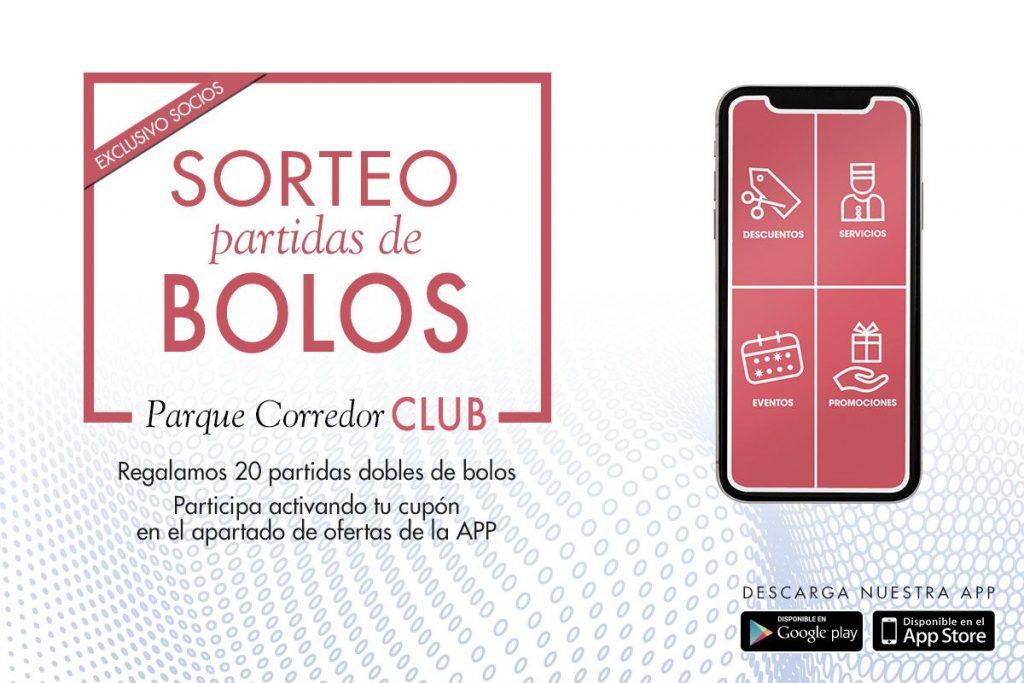 Parque Corredor Club lanza un sorteo de partidas de blos descargando la app