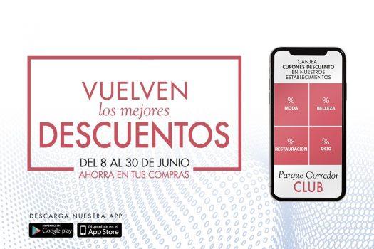 Descuentos para socios de la app Parque Corredor