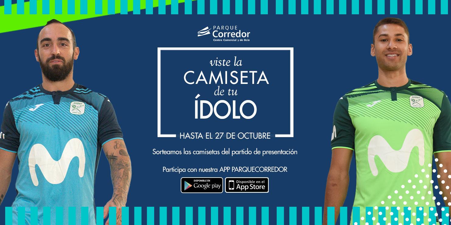 Descargando la app de Parque Corredor entrarás en el sorteo de camisetas del equipo de fútbol sala Movistar Inter