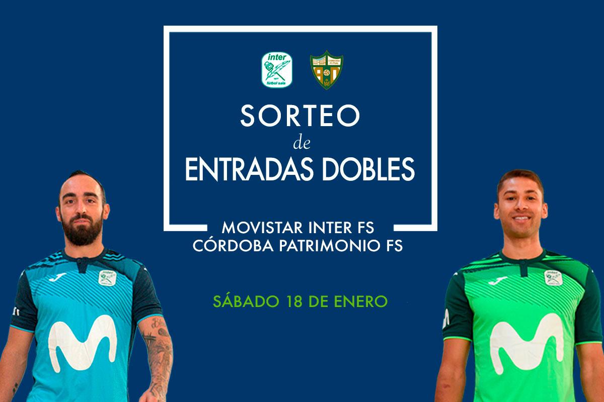 Sorteo de entradas para fútbol sala Movistar Inter vs Córdoba Patrimonio