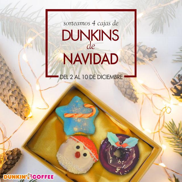 Sorteamos 10 cajas de Dunkins de Navidad en nuestras redes sociales y la app